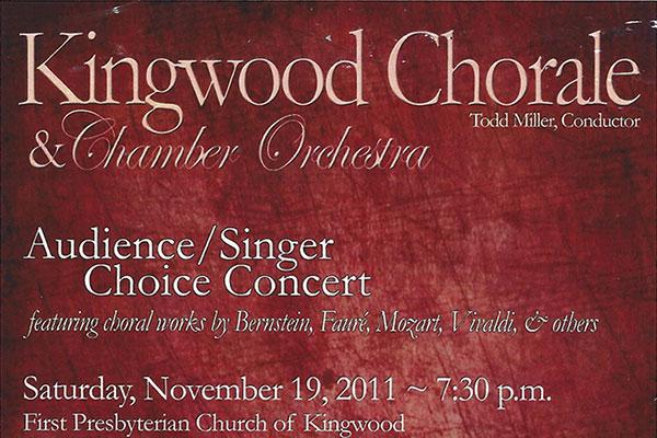 Kingwood Chorale Programs